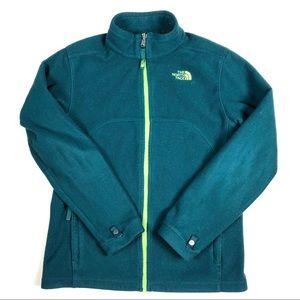 The North Face Green Zipper Fleece Jacket